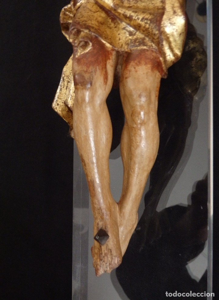 Arte: Calvario en madera policromada y dorada. Siglo XVII. - Foto 30 - 115625335