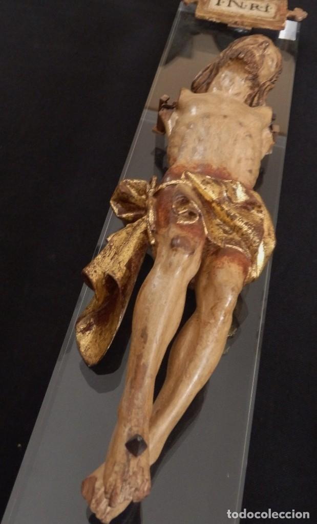 Arte: Calvario en madera policromada y dorada. Siglo XVII. - Foto 31 - 115625335