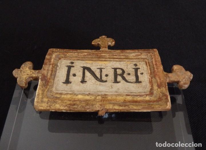 Arte: Calvario en madera policromada y dorada. Siglo XVII. - Foto 32 - 115625335