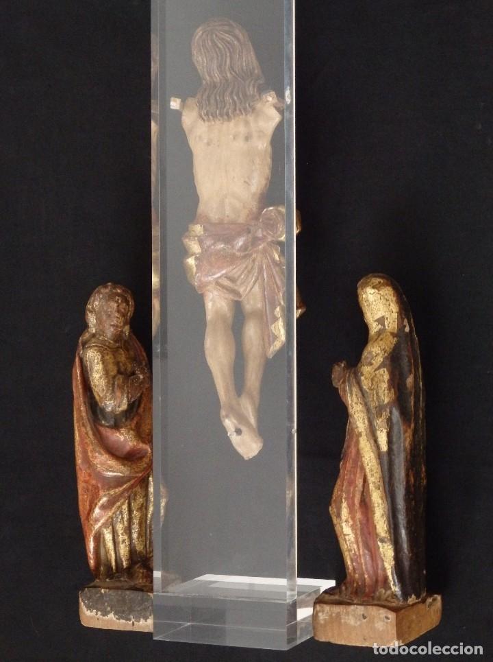 Arte: Calvario en madera policromada y dorada. Siglo XVII. - Foto 34 - 115625335