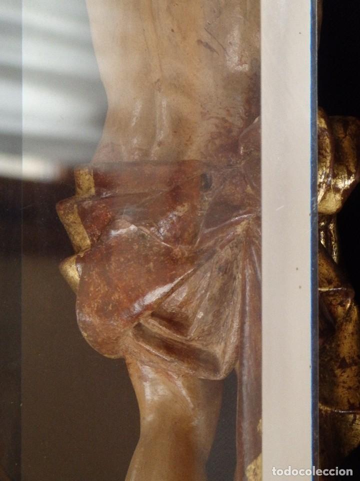 Arte: Calvario en madera policromada y dorada. Siglo XVII. - Foto 35 - 115625335