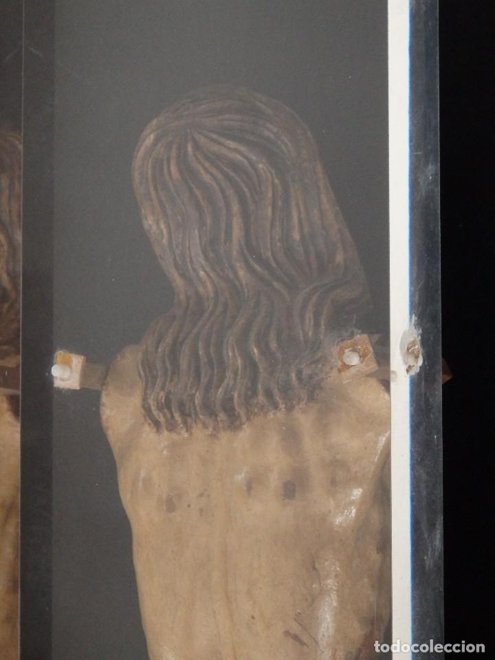 Arte: Calvario en madera policromada y dorada. Siglo XVII. - Foto 36 - 115625335