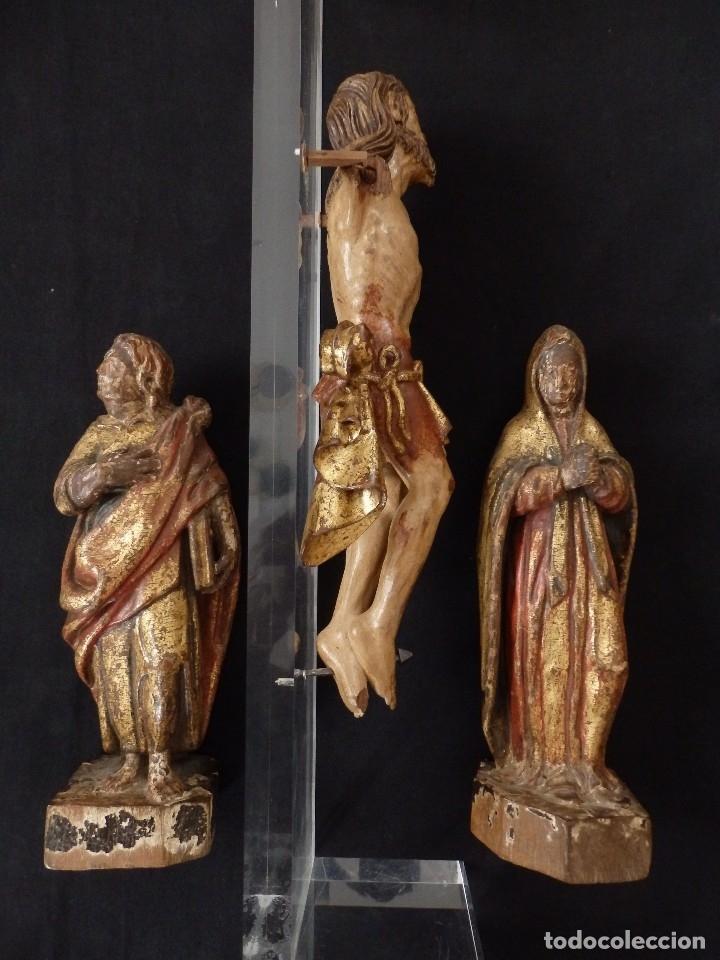 Arte: Calvario en madera policromada y dorada. Siglo XVII. - Foto 37 - 115625335