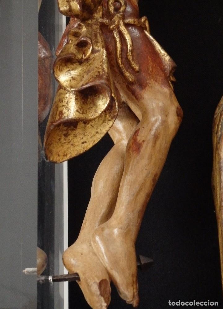 Arte: Calvario en madera policromada y dorada. Siglo XVII. - Foto 38 - 115625335