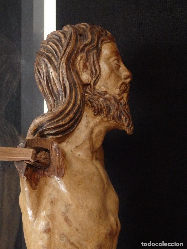 Arte: Calvario en madera policromada y dorada. Siglo XVII. - Foto 39 - 115625335