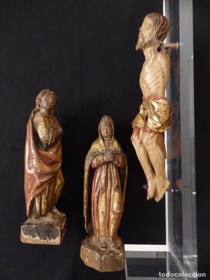 Arte: Calvario en madera policromada y dorada. Siglo XVII. - Foto 41 - 115625335