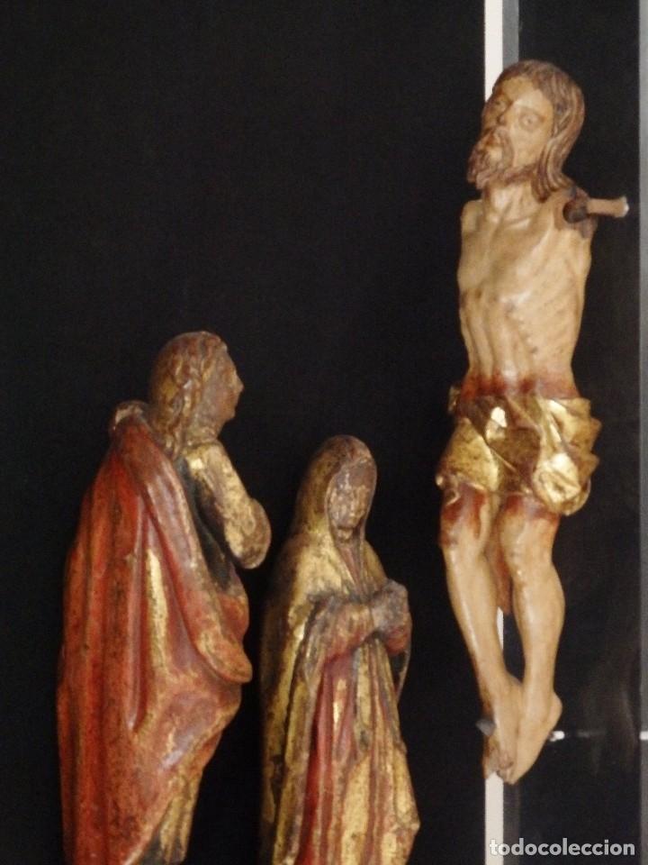 Arte: Calvario en madera policromada y dorada. Siglo XVII. - Foto 43 - 115625335