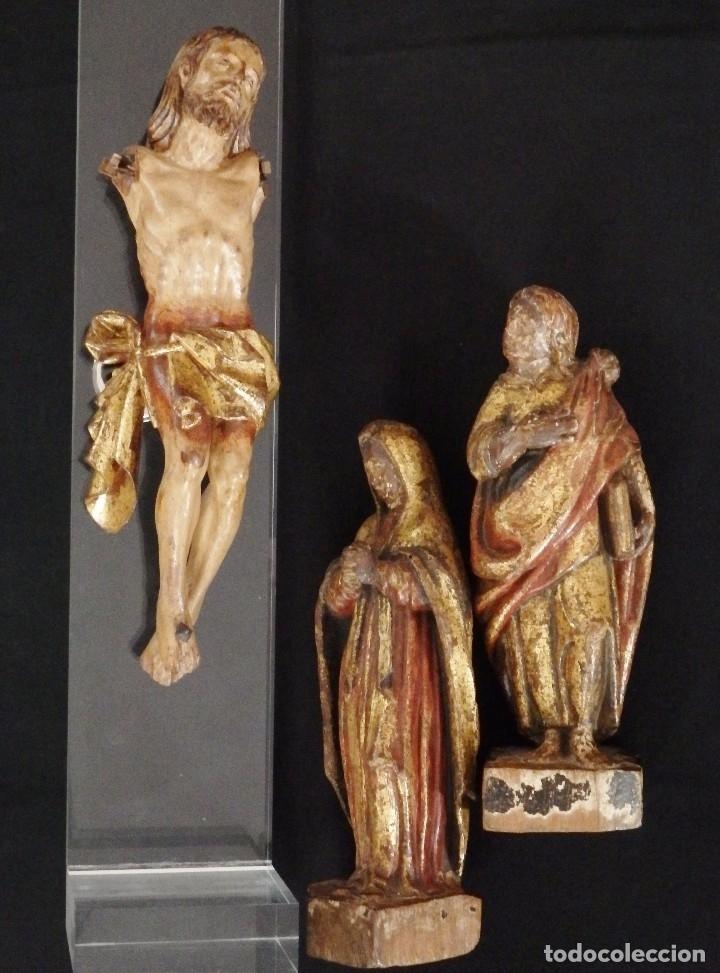Arte: Calvario en madera policromada y dorada. Siglo XVII. - Foto 44 - 115625335