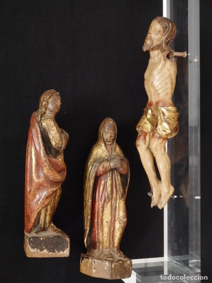 Arte: Calvario en madera policromada y dorada. Siglo XVII. - Foto 5 - 115625335