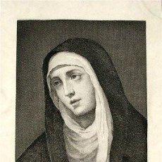 Arte: MATER DOLOROSA DE MURILLO, DIBUJADO Y GRABADO POR BARTOLOMÉ MAURA EN 1879 . Lote 115733911