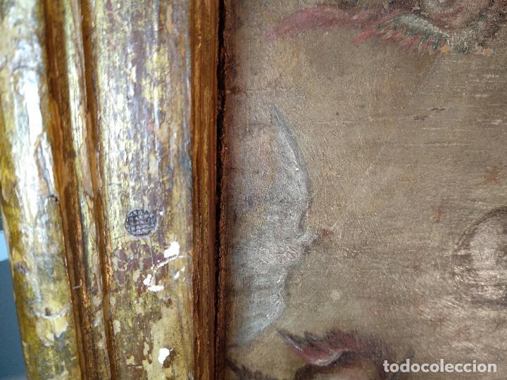 Arte: BELLO OLEO SOBRE TABLA DE LA INMACULADA CONCEPCIÓN - SIGLO XVII-XVIII - MARCO DE ÉPOCA - 51X38 CM - - Foto 6 - 115786411