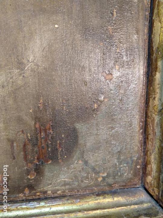 Arte: BELLO OLEO SOBRE TABLA DE LA INMACULADA CONCEPCIÓN - SIGLO XVII-XVIII - MARCO DE ÉPOCA - 51X38 CM - - Foto 8 - 115786411
