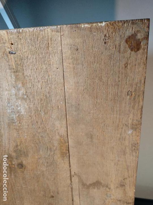 Arte: BELLO OLEO SOBRE TABLA DE LA INMACULADA CONCEPCIÓN - SIGLO XVII-XVIII - MARCO DE ÉPOCA - 51X38 CM - - Foto 11 - 115786411