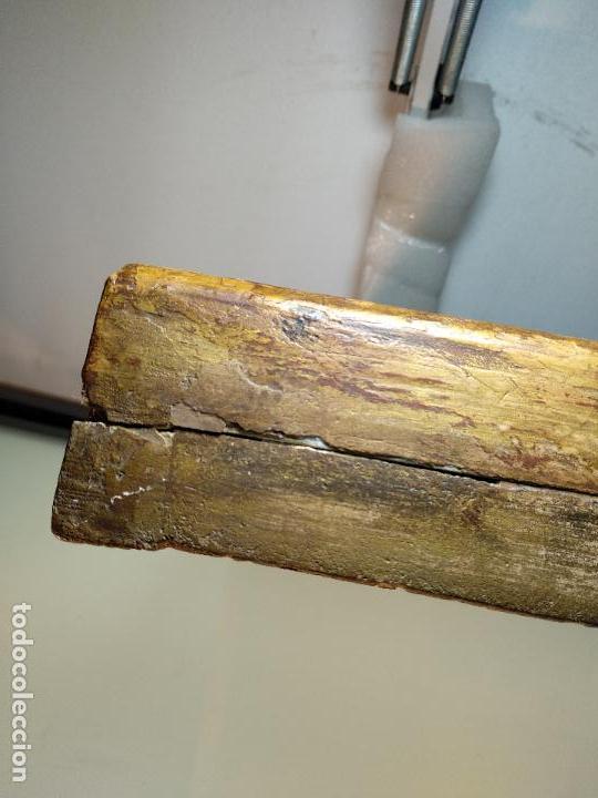 Arte: BELLO OLEO SOBRE TABLA DE LA INMACULADA CONCEPCIÓN - SIGLO XVII-XVIII - MARCO DE ÉPOCA - 51X38 CM - - Foto 13 - 115786411