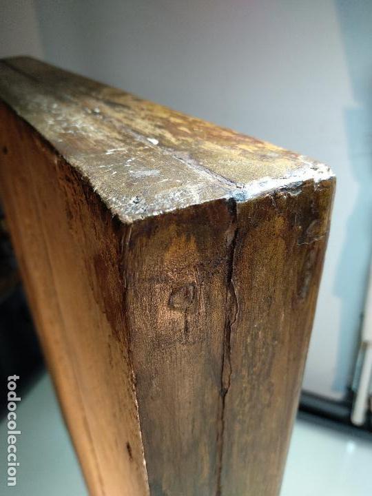 Arte: BELLO OLEO SOBRE TABLA DE LA INMACULADA CONCEPCIÓN - SIGLO XVII-XVIII - MARCO DE ÉPOCA - 51X38 CM - - Foto 14 - 115786411