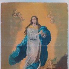 Arte: ANTIGUA LITOGRAFIA A LA PIEDRA DE VIRGEN. Lote 115904955