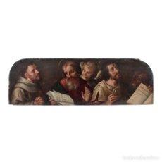 Arte: ESCUELA TOLEDANA DE FINALES DEL SIGLO XVI ÓLEO TABLA SAN FRANCISCO SAN MATEO SAN MARCOS ÁNGEL TOLEDO. Lote 115919991