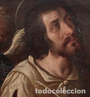 Arte: ESCUELA TOLEDANA de finales del siglo XVI óleo tabla San Francisco San Mateo San Marcos Ángel TOLEDO - Foto 3 - 115919991