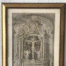Arte: LITOGRAFÍA. VERDADERO RETRATO DE LA MILAGROSA IMAGEN DE CRISTO.S.GERONIMO BARCELONA 1787. Lote 116056711