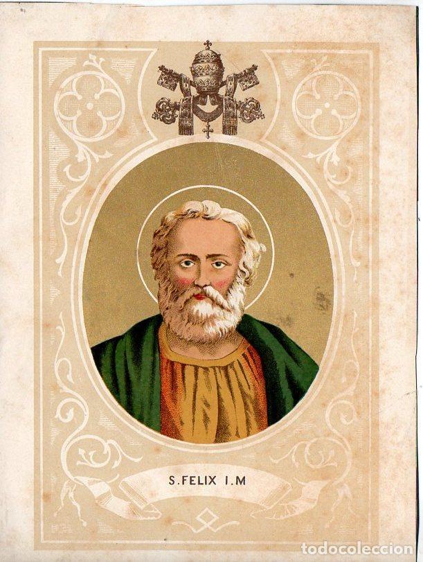 SAN FÉLIX - CROMOLITOGRAFÍA S. XIX (Arte - Arte Religioso - Grabados)