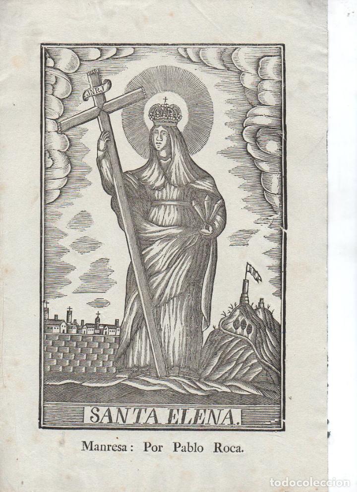 SANTA ELENA - GRABADO SIN FECHA - MANRESA, POR PABLO ROCA (Arte - Arte Religioso - Grabados)