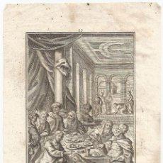 Arte: ANTIGUO GRABADO DE MARTIN ENGELBRECHT (1684–1756) – REMISSIONEM PECCATORUM – (9,2X15). Lote 116285295