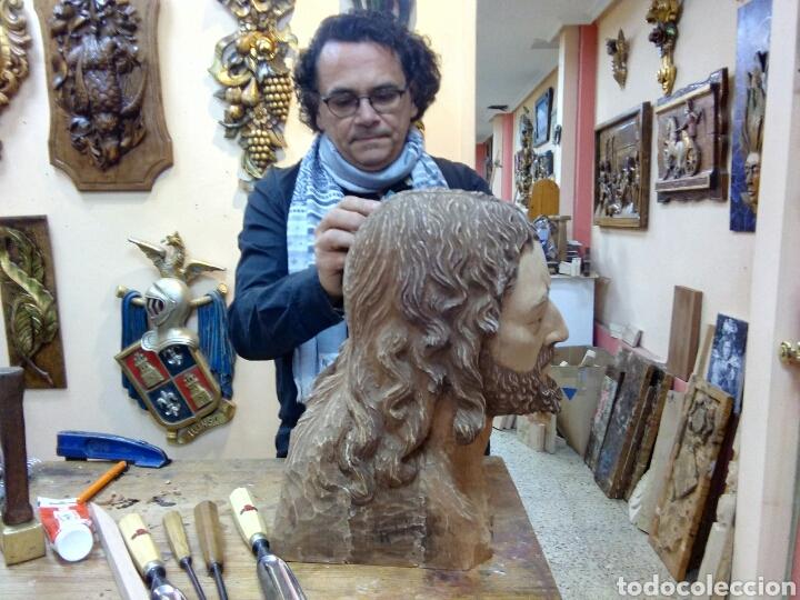 CABEZA CRISTO MADERA CEDRO (Arte - Arte Religioso - Escultura)