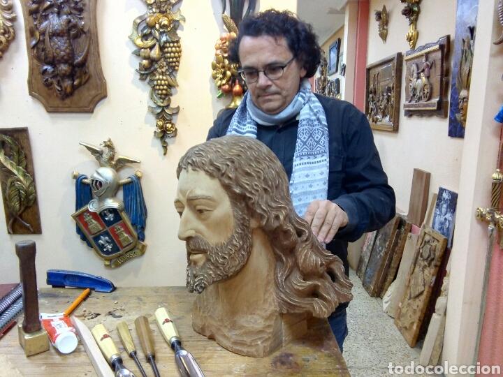 Arte: Cabeza cristo madera cedro - Foto 3 - 116309580