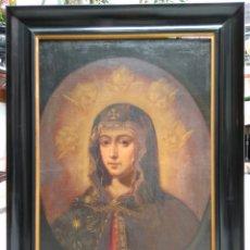 Arte: VIRGEN ROMANA PINTURA ÓLEO SOBRE LIENZO SIGLO XVIII. Lote 116331716