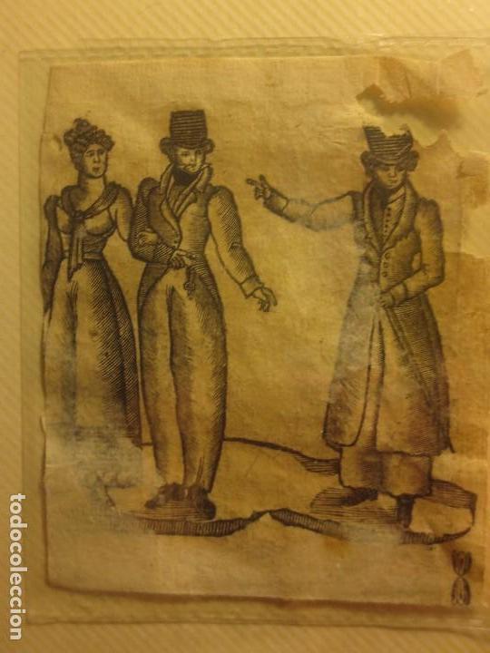ANTIGUO GRABADO SIGLO XVIII DETERIORADO (Arte - Arte Religioso - Grabados)
