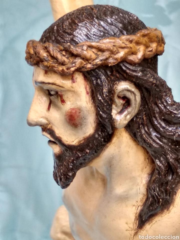 Arte: Cristo Crucificado, Talla en madera siglo XVIII, escuela andaluza - Foto 2 - 116335219