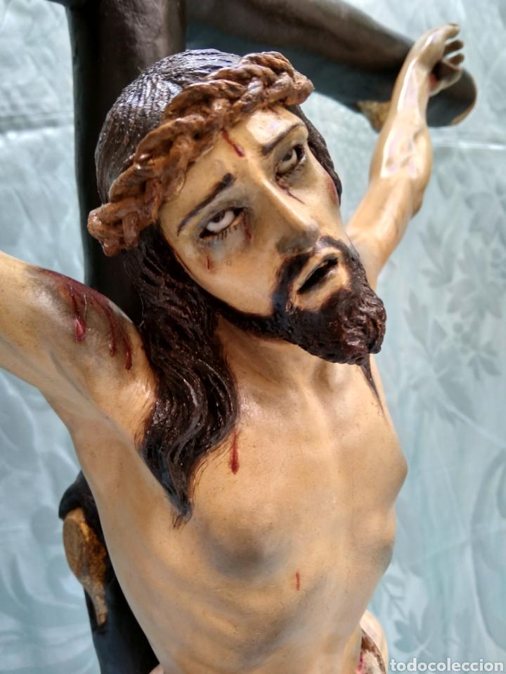 Arte: Cristo Crucificado, Talla en madera siglo XVIII, escuela andaluza - Foto 4 - 116335219