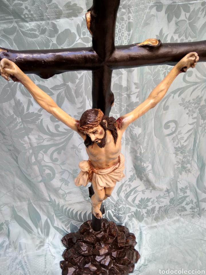 Arte: Cristo Crucificado, Talla en madera siglo XVIII, escuela andaluza - Foto 6 - 116335219