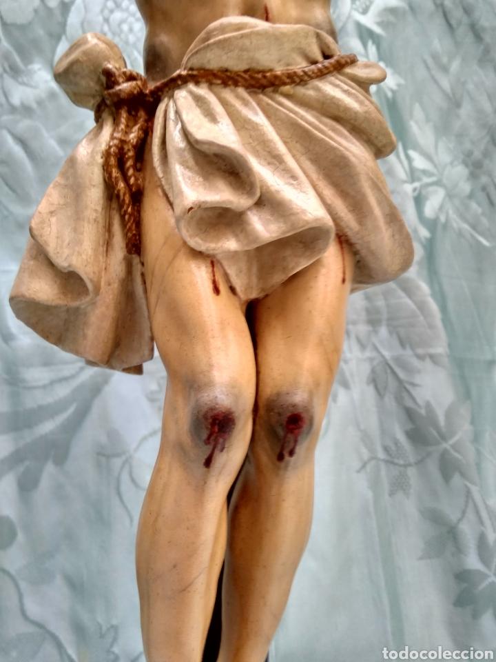 Arte: Cristo Crucificado, Talla en madera siglo XVIII, escuela andaluza - Foto 8 - 116335219