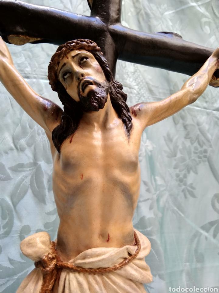 Arte: Cristo Crucificado, Talla en madera siglo XVIII, escuela andaluza - Foto 9 - 116335219