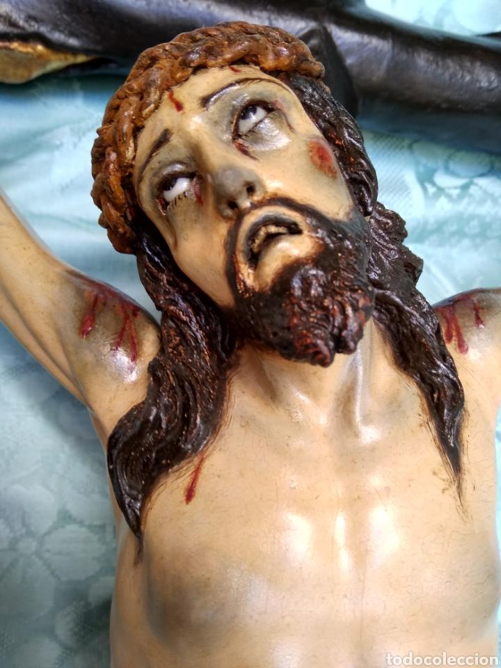 Arte: Cristo Crucificado, Talla en madera siglo XVIII, escuela andaluza - Foto 14 - 116335219