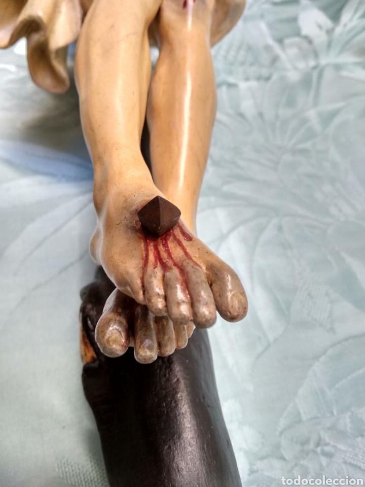 Arte: Cristo Crucificado, Talla en madera siglo XVIII, escuela andaluza - Foto 15 - 116335219