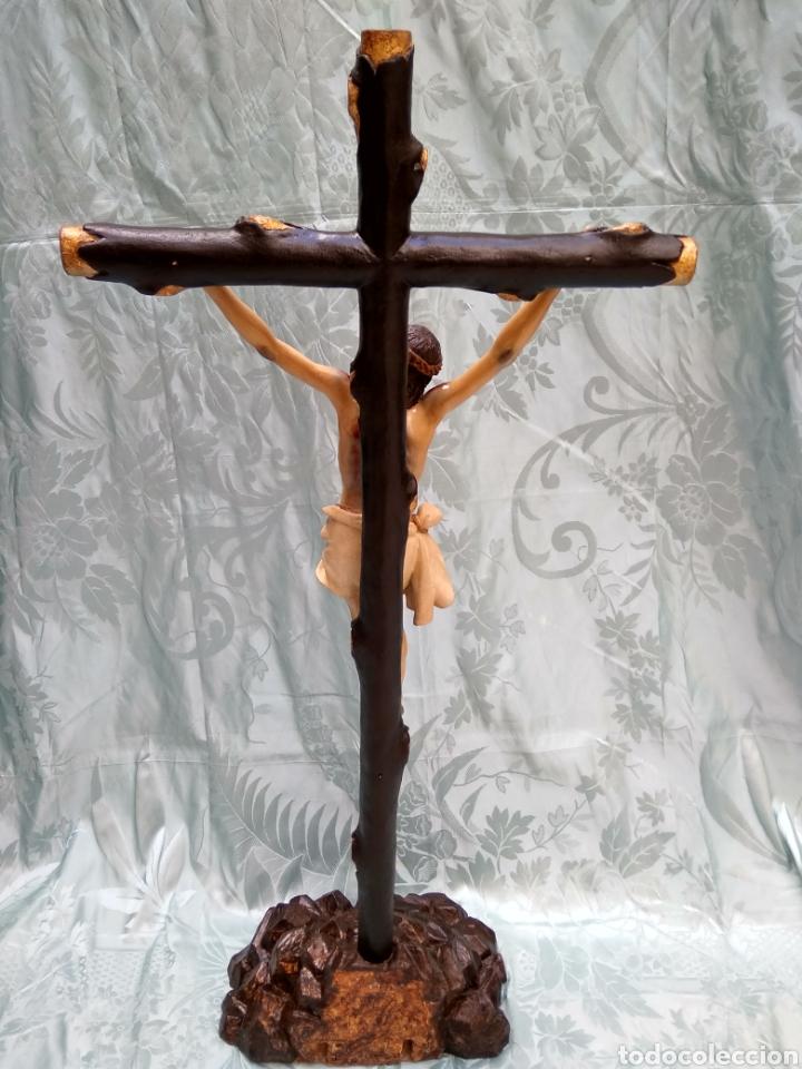 Arte: Cristo Crucificado, Talla en madera siglo XVIII, escuela andaluza - Foto 18 - 116335219