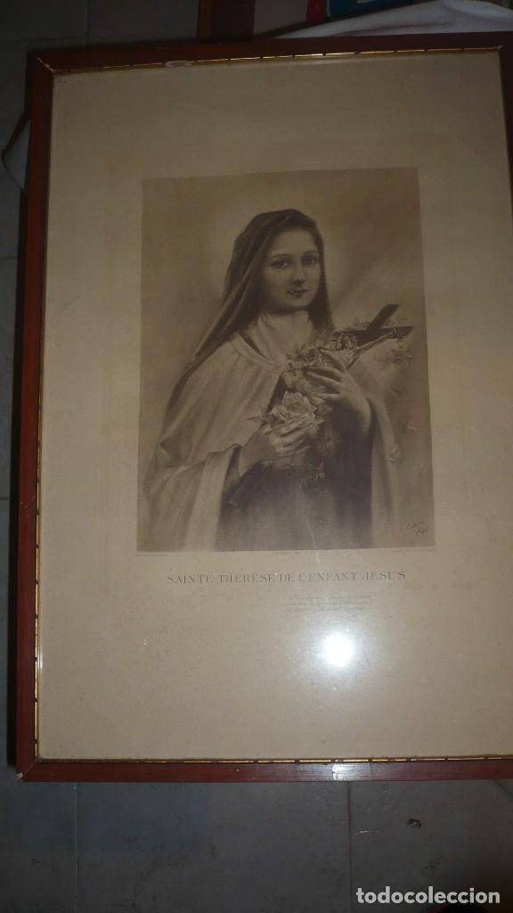 lámina enmarcada de santa teresa del niño jesús - Comprar en ...