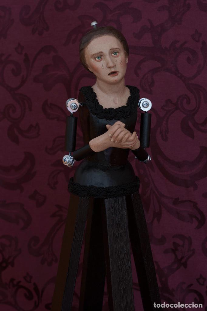 VIRGEN DOLOROSA DE 50 CTMS CON MANOS UNIDAS (Arte - Arte Religioso - Escultura)