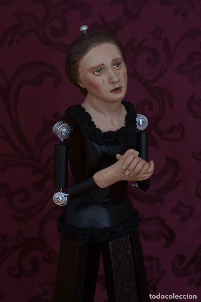 Arte: Virgen dolorosa de 50 ctms con manos unidas - Foto 3 - 116687491