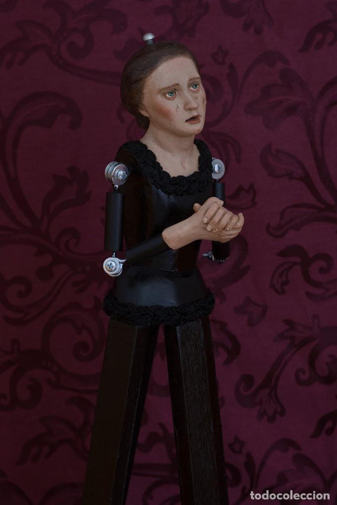 Arte: Virgen dolorosa de 50 ctms con manos unidas - Foto 5 - 116687491