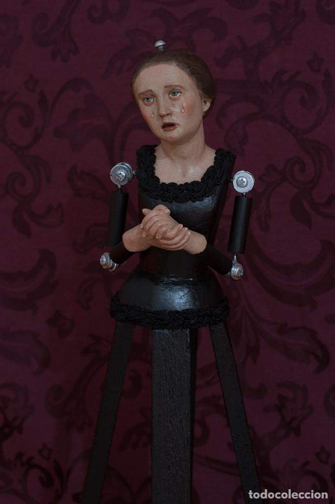Arte: Virgen dolorosa de 50 ctms con manos unidas - Foto 6 - 116687491