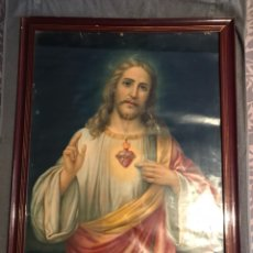 Arte: SAGRADO CORAZON DE JESUS. LITOGRAFÍA DURA. VALENCIA(H.1930?). Lote 116707336