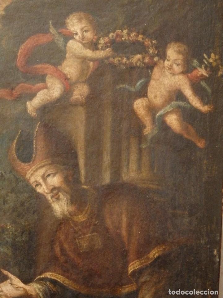 Arte: La Sagrada Familia y San Juanito. Oleo sobre tabla. Italia, siglo XVII. - Foto 7 - 115960783