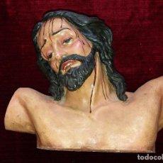 Arte: BUSTO CRISTO TERRACOTA, FIRMADO.. Lote 116854959