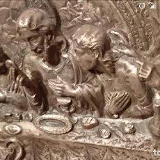Arte: CUADRO RELIEVE METAL ULTIMA CENA DE JESUS. Lote 116861179