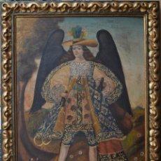 Arte: ARCÁNGEL. ANÓNIMO. ESCUELA CUZQUEÑA. TÉCNICA MIXTA SOBRE CARTÓN. SIGLO XX SOBRE MODELO BARROCO (S.XV. Lote 116923151