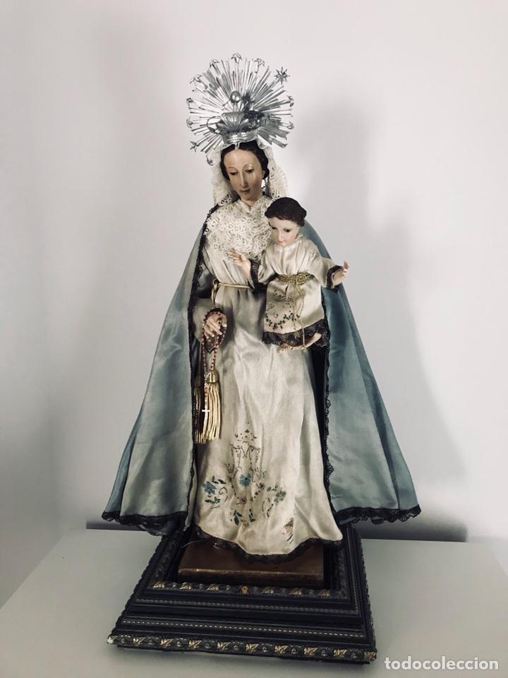 VIRGEN DE GLORIA CAP I POTA, VIRGEN DE MADERA, TALLA EN MADERA (Arte - Arte Religioso - Escultura)