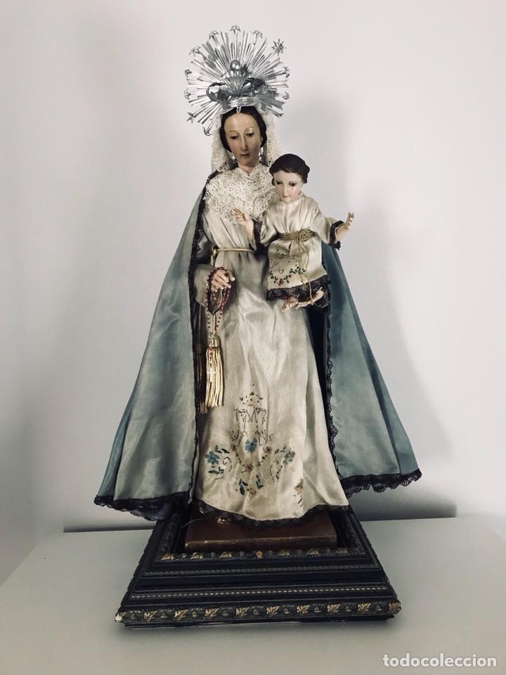Arte: Virgen de gloria Cap i pota, virgen de madera, talla en madera - Foto 2 - 68569485